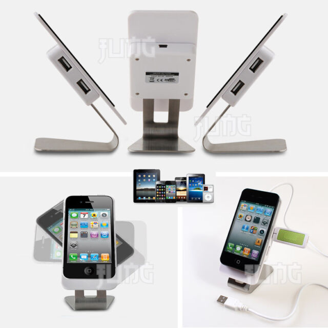 Universal Smart Mobile Cell Phone DeskTop Stand Cradle Holder with 4port USB Hub