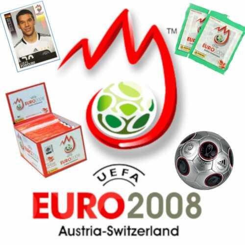 Panini EM 2008 EM08 Euro 5//10//20//50//100 Sticker aus fast allen aussuchen