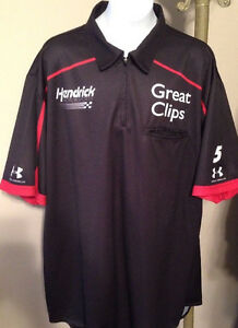 Pit Crew Shirts >> Details About Lg Hendrick Motorsports Kahne Under Armour Great Clips Pit Crew Shirt Nascar