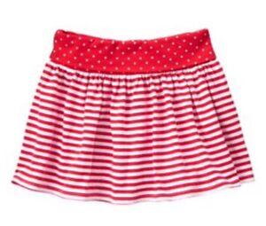964c55e634 Nwt Gymboree Girls Red White & Cute Striped Knit Skirt Skort Stars ...