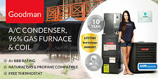 Goodman 4 Ton 14 SEER 96% AFUE 100K BTU Complete Split System A/C and Gas
