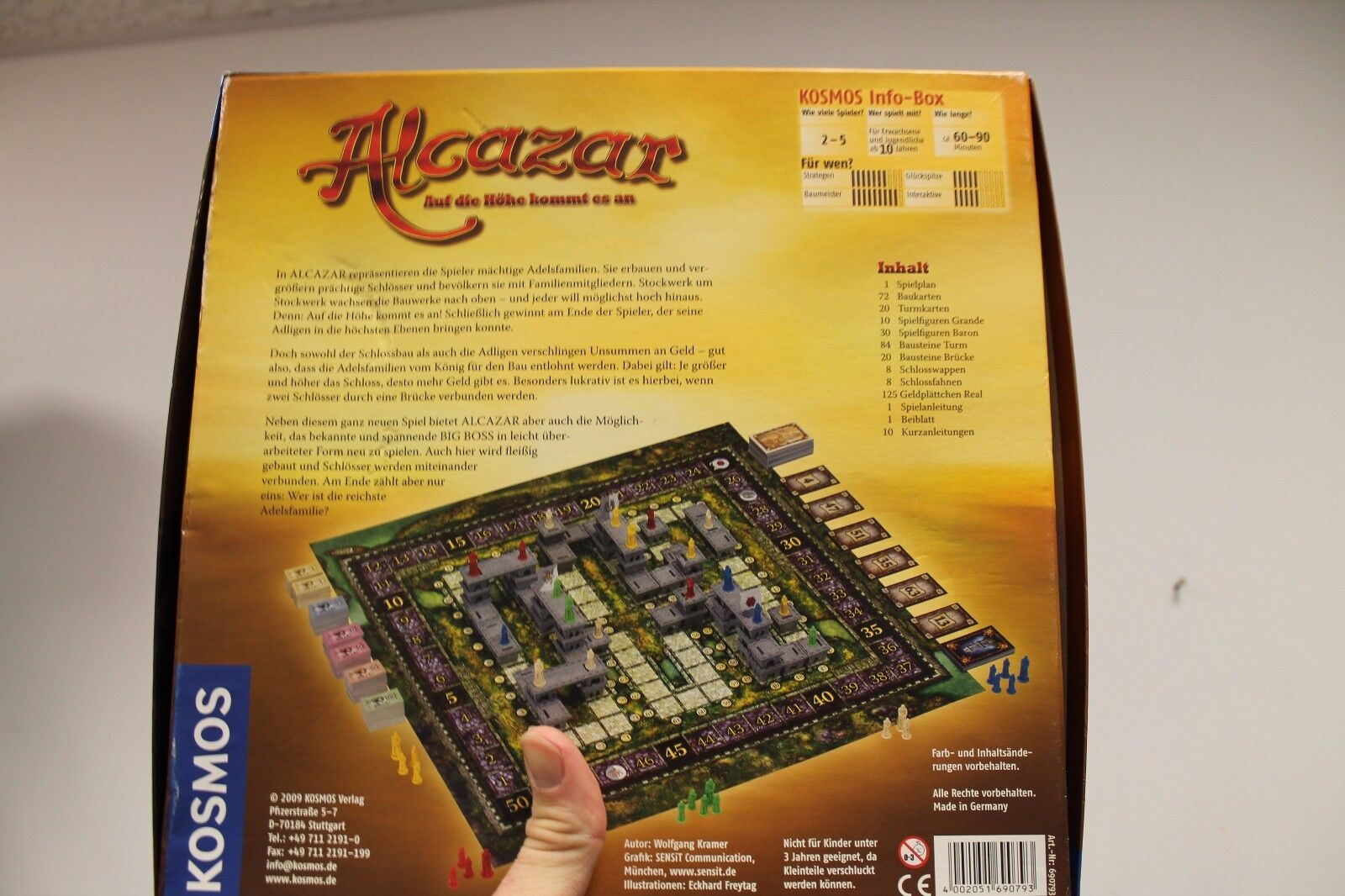 Alcazar - - - Board Game (2009) Rare 753388