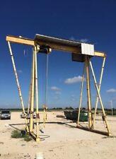 Mch Electric Rail Hoist Gantry Crane 10000 Pound 5ton Overhead Lift 31 Top Bar