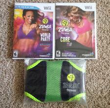 Zumba Fitness World Party & Core Nintendo Wii Games & Belt