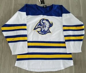 brand new 47ad1 695e5 Details about Buffalo Sabres Custom Hockey Jersey Winter Classic Goat Head  Royal Blue and Gold