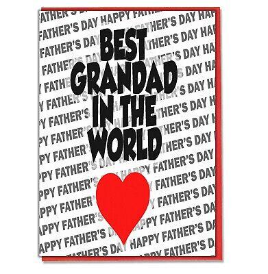 Fête des Pères Carte de Vœux-Meilleur Papy du monde-Happy Father/'s Day