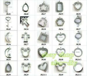 Living-locket-Pendant-Glass-floating-Locket-fit-Floating-Charms-locket-Necklace