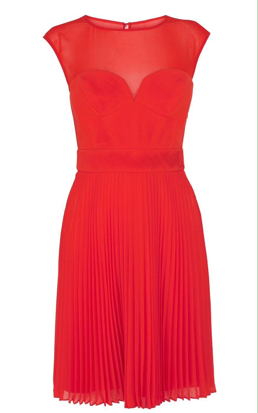 EXQUISITE Karen Millen Orange Pleated Dress