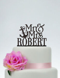 New-Unique-Personalized-Mr-and-Mrs-Anchor-Wedding-Cake-Topper-Decoration