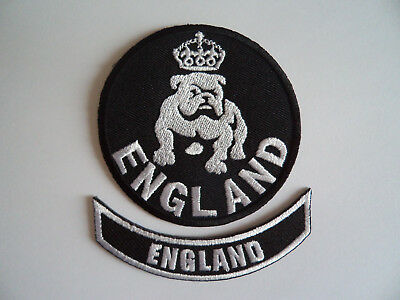 Sew On Patch British Bulldog Football 2 England Patches Iron