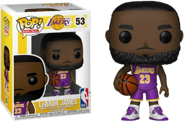 9f89044f7f1f Lebron James Los Angeles Lakers Funko NBA Pop 53 Figure - Purple for ...