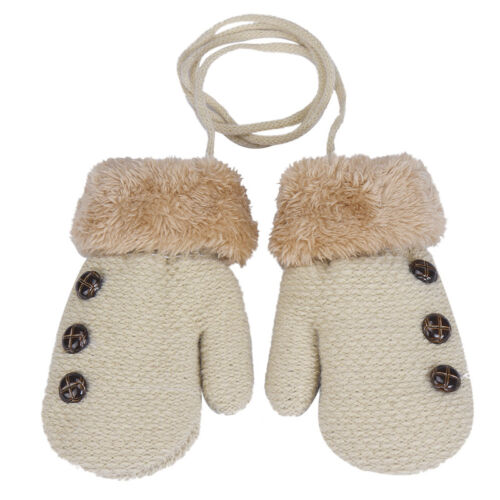 Cute Snow Flower Winter Warm Toddlers Girl//Boy Baby Kids knitting Gloves Mittens