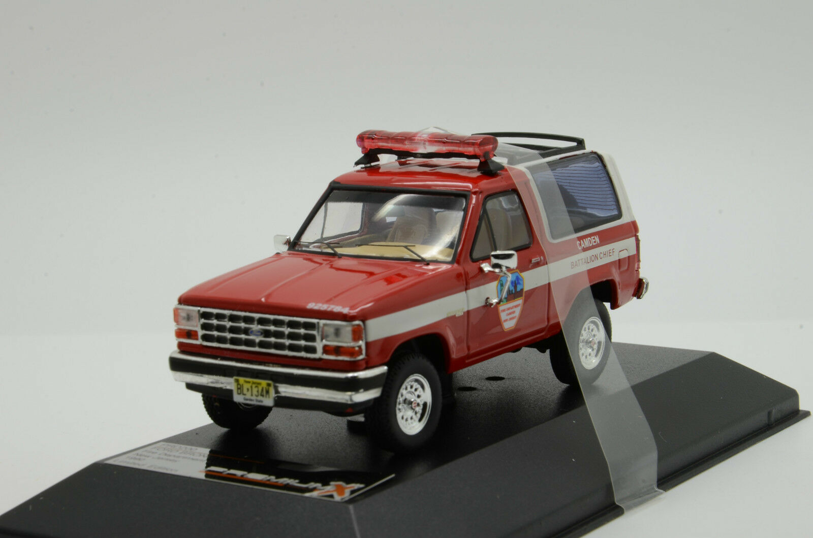 RARE    Ford Bronco II Fire Department New Jersey 1990 PremiumX PRD200 1 43