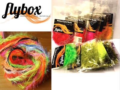 FLYBOX ®  Medium PEARL Crystal Hackle *** New 2020 Stocks ***
