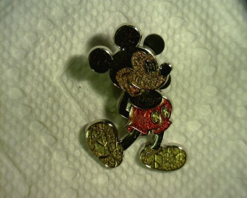 DISNEY 2011 CRACKEL GLASS FINISHED MICKEY PIN