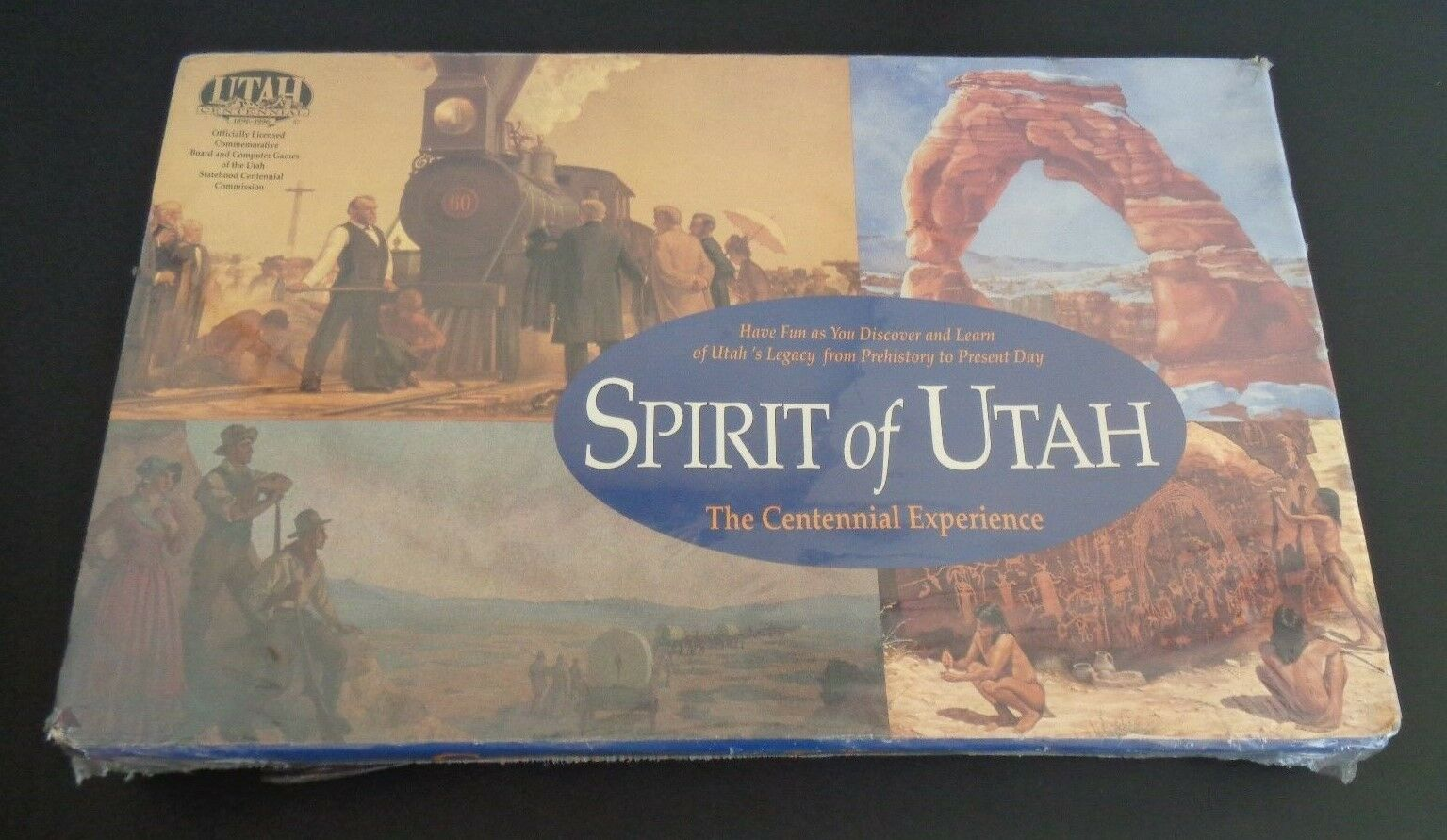 SPIRIT OF UTAH The Centennial Experience NEW Board Game 1993 Free Ship SEALED