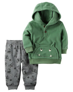 4ba0517f0c70 Carters 3 9 Months Monster Fleece Hoodie   Pants Set Baby Boy ...