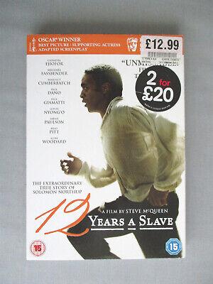 Dvd 12 Years A Slave 2013 Cert 15 Ejiofor Fassbender Cumberbatch Vgc Ebay