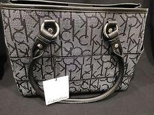Calvin Klein Satchel Style Handbag, dot(Blk&Wht) NWT