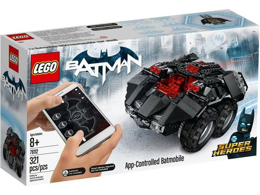 NEW LEGO 76112 Superheroes App-Controlled Batmobile Building Kit  321 Piece