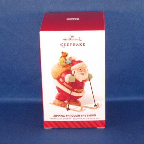 Keepsake Christmas Ornament Hallmark 2014 Zipping Through the Snow Ski Santa