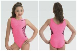 GK-Elite-Coral-Knockout-Gymnastics-Leotard-Child-amp-Adult-Sizes-New-With-Tags