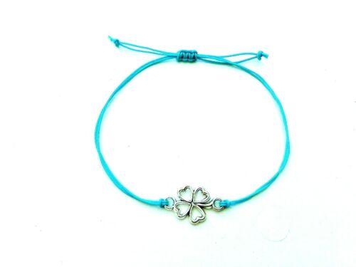 Bracelet Symbols//Evil Eye//Clover//Heart Symbols Handmade//Friendship//Birthday GIFT