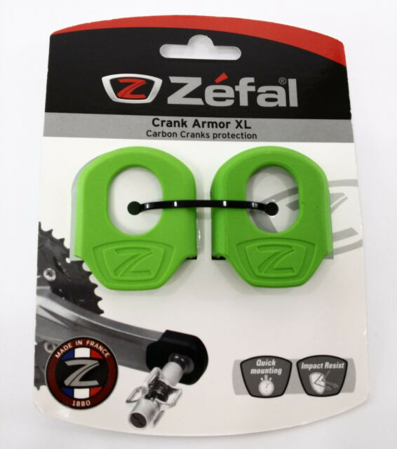2x ZEFAL UNIVERSAL GREEN CRANK ARMOR ARM BOOT BIKE COVER PROTECTION PEDAL PAIR