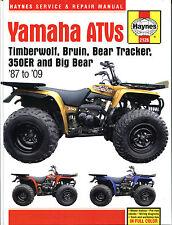 Haynes Manual 2126 - Yamaha ATVs Timberwolf/Bruin/Bear Tracker/350ER/Big Bear