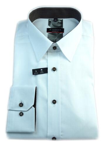 ETERNA Herren Langarm Business Hemd Modern Fit weiß Patch Gr 38 8551.00.X148