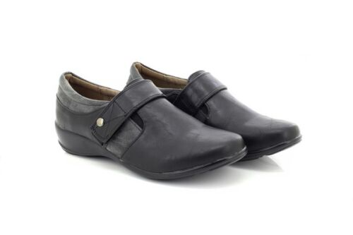 Boulevard Black Sharon Fastening L209 Shoes Touch Single rFYrgq