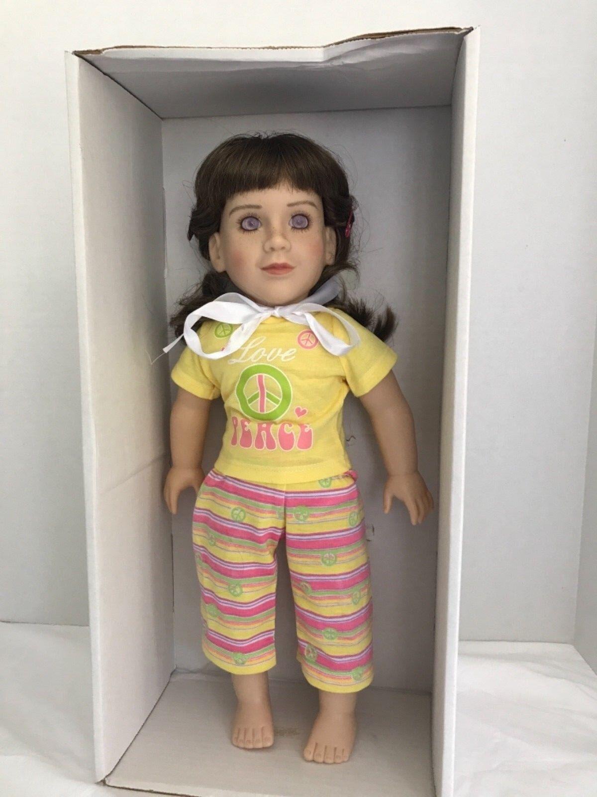 """My Twinn 18"""" Doll with braun Hair lila Eyes (AD 2)"""