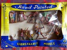 Plastic toys soldiers - Soldats en plastique 1960 - 10 indiens made in Hong Kong