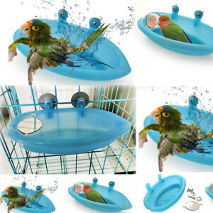 Us Bird Water Bath Tub For Pet Bird Cage Hanging Bowl
