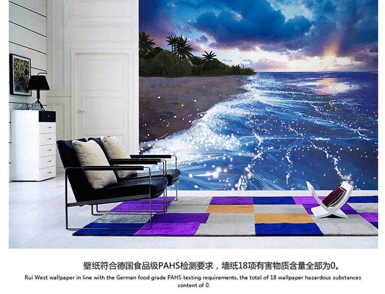 3D Fluorescent Beach 881WallPaper Murals Wall Print Decal Wall Deco AJ WALLPAPER