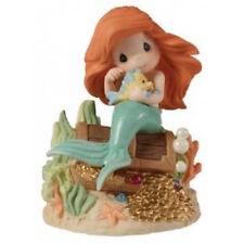 Disney Precious Moments 153010 Ariel On Treasure Box Figurine New & Boxed