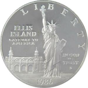 1986-S-1-Statue-of-Liberty-Commemorative-Silver-Dollar-US-Coin-Choice-Proof