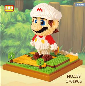 LNO 161 Super Mario Luigi Green Figure DIY Diamond Mini Building Nano Block Toy