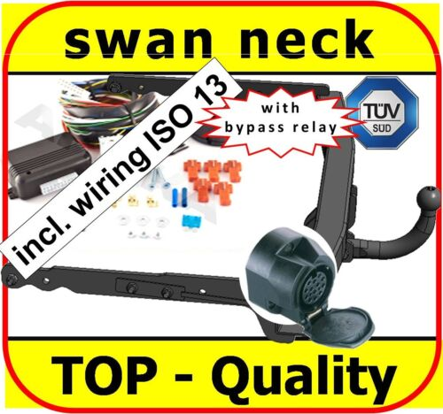 swan neck Towbar /& Electrics ISO 13pin Ford Mondeo 4 IV Hatchback 2007-2014