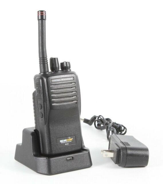 Bearcom Motorola BC95 8 Channel UHF Handheld Two Way Radios w/Charger & Adapter