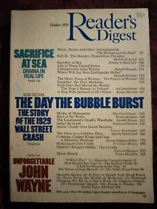 Readers Digest October 1979 John Wayne Ronald Reagan Walter E. Williams