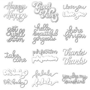 Words You are my sunshine metal Cutting Dies Stencils For Card Craft Decor OS