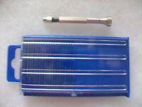 Mini Swivel Head Pin Vise With Hss Micro Mini Twist Drill Bits 20 Pc Set