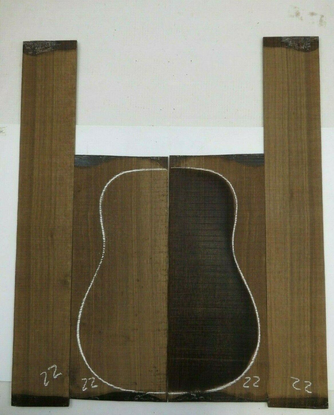 Gitarre Hinten Seite Dreadnought Laural Set AAAA22 Gitarrenbauer Tonewood Buch