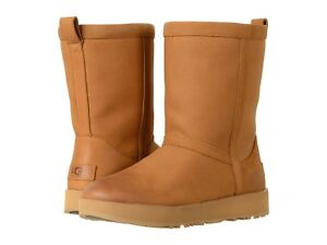 new women 2019 ugg classic short boots leather waterproof chestnut rh ebay com