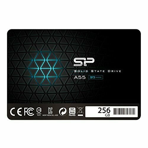 "Silicon Power 256GB SSD 3D NAND A55 SLC Cache Performance Boost SATA III 2.5""..."