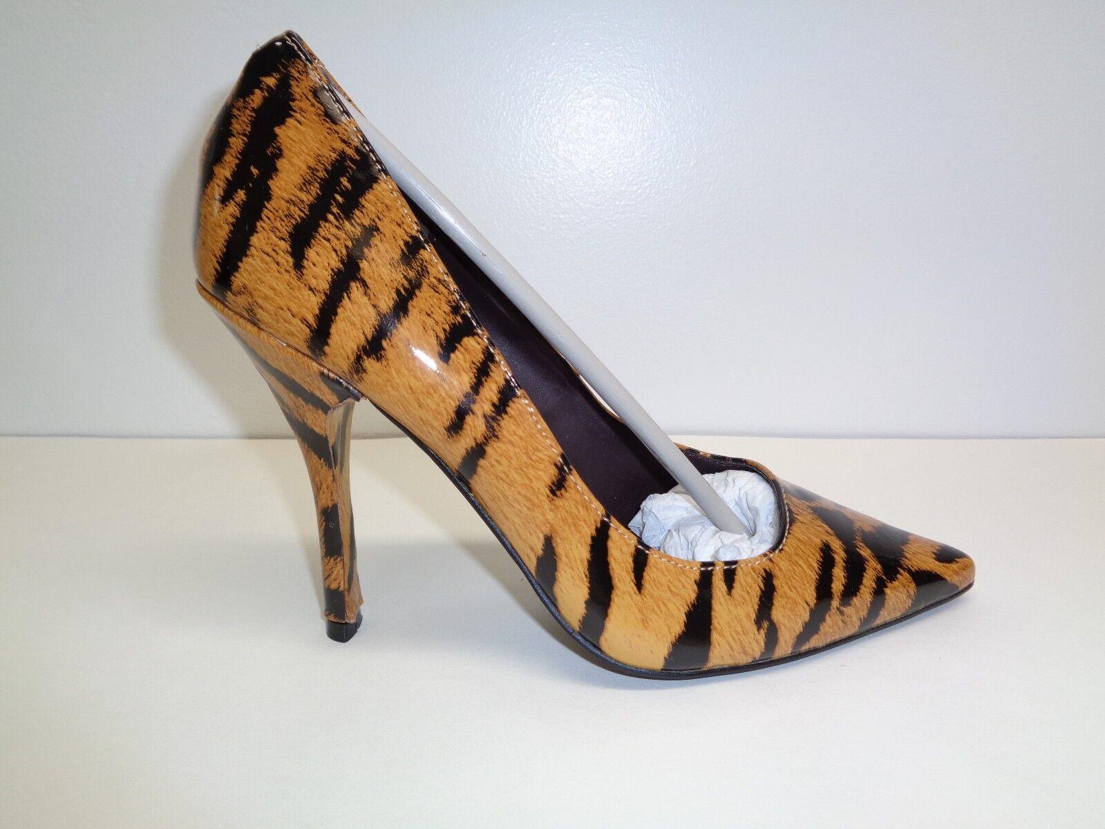 Modern Leder Vice Größe 6 M MARIAH Tiger Print Patent Leder Modern Heels New Damenschuhe Schuhes 2a3452