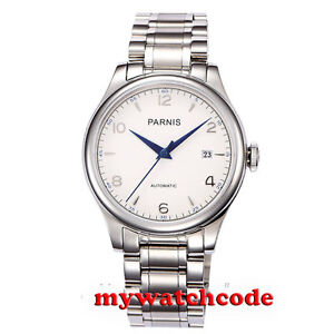 38mm-Parnis-white-dial-date-Sapphire-Glass-miyota-Automatic-mens-Watch-P723