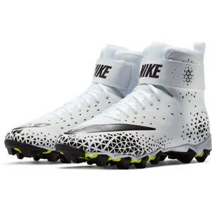 BRAND-NEW-Nike-Force-Savage-Shark-White-Black-Lineman-Football-Cleats-Men-039-s-12-5