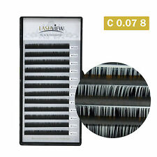 Lashview Eyelash Extensions C 0.07 8mm Thin Soft False Lash Pro Salon Use